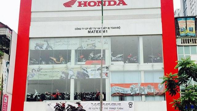 Đại lý xe máy được Honda ủy nhiệm ở Hà Nội